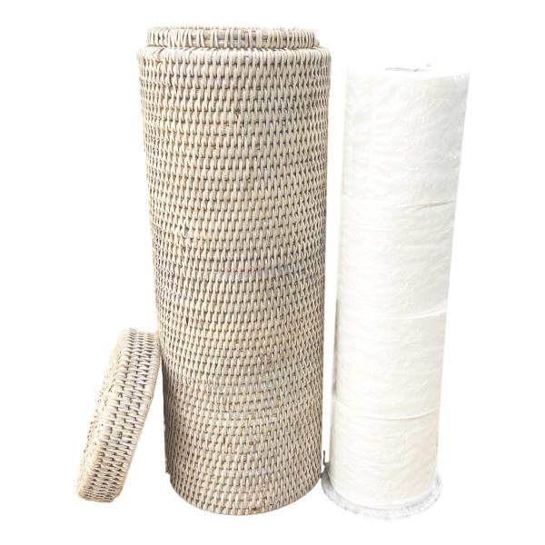 Rattan Toilet Roll Holder
