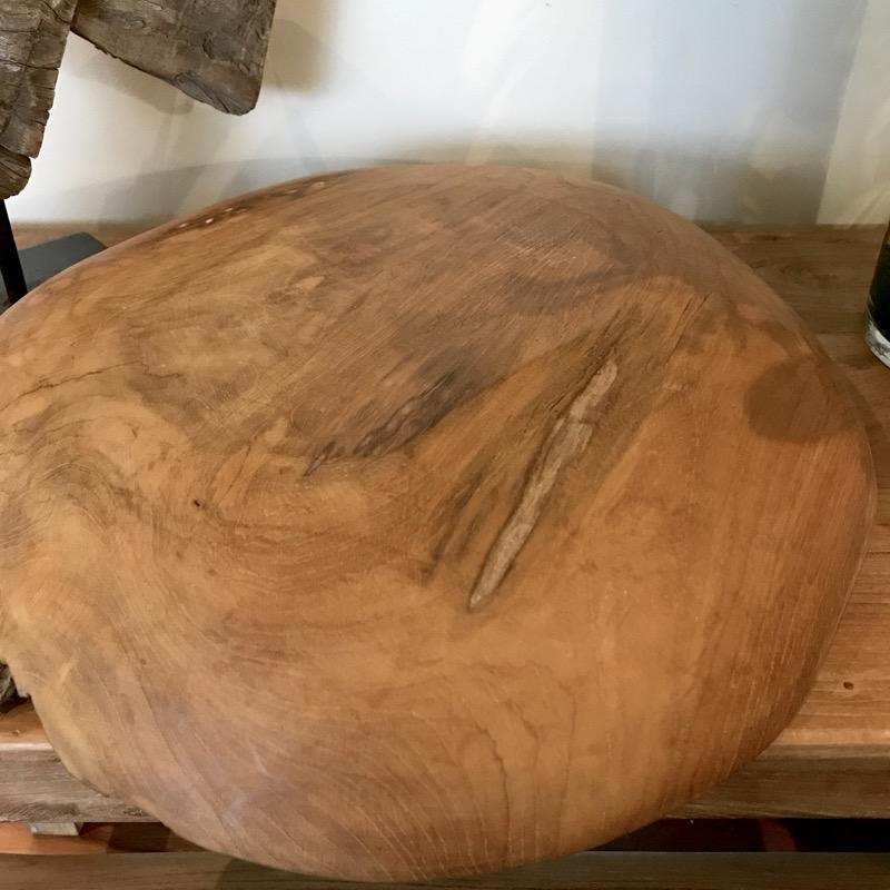 Wooden Bowl Teak Root Fruit Bread Presentation Hand Carved No.1-Janggalay