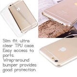 iphone clear tpu silicone case with cut out ports