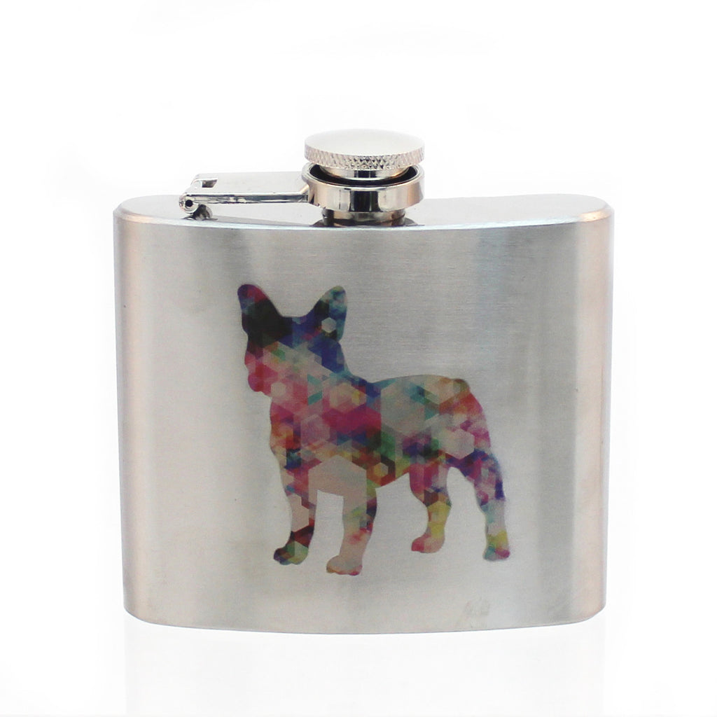 Steel 5oz Flask - French Bulldog
