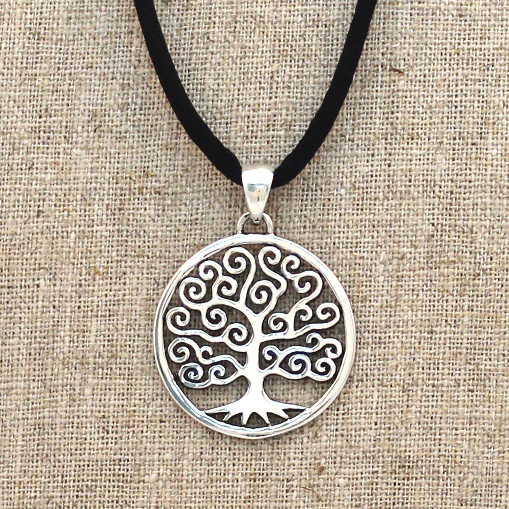 Sterling Silver Whimsy Tree of Life Necklace