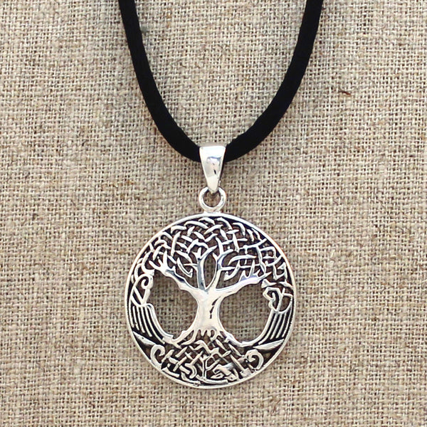 Sterling Silver Endless Celtic Knot Tree of Life Necklace