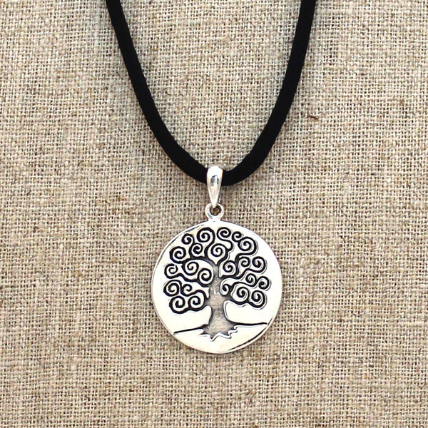 Sterling Silver SwirlyTree of Life Necklace