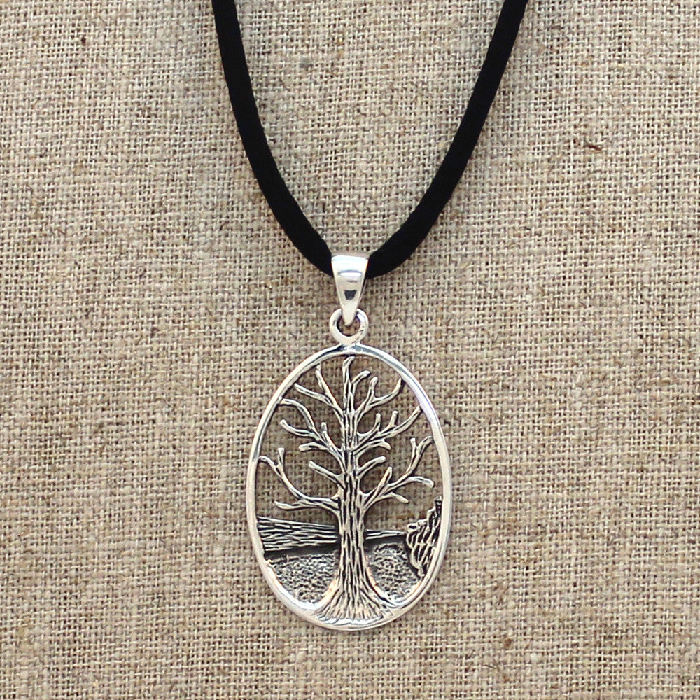 Sterling Silver Vintage Tree of Life Necklace