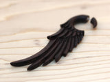 Carved Wood Earrings - Wings