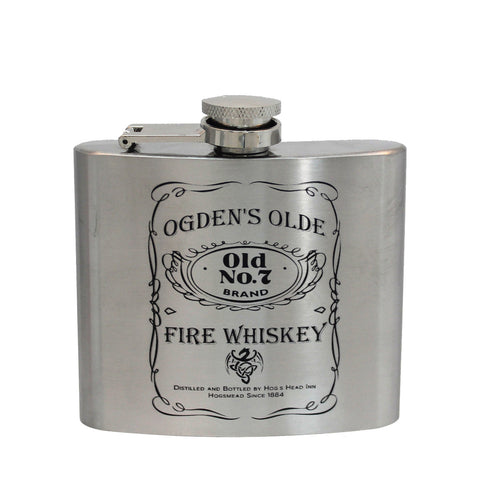 Steel 5oz Flask - Fire Whiskey (silver)