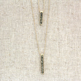Hi-Lo Pyrite Bar Necklace