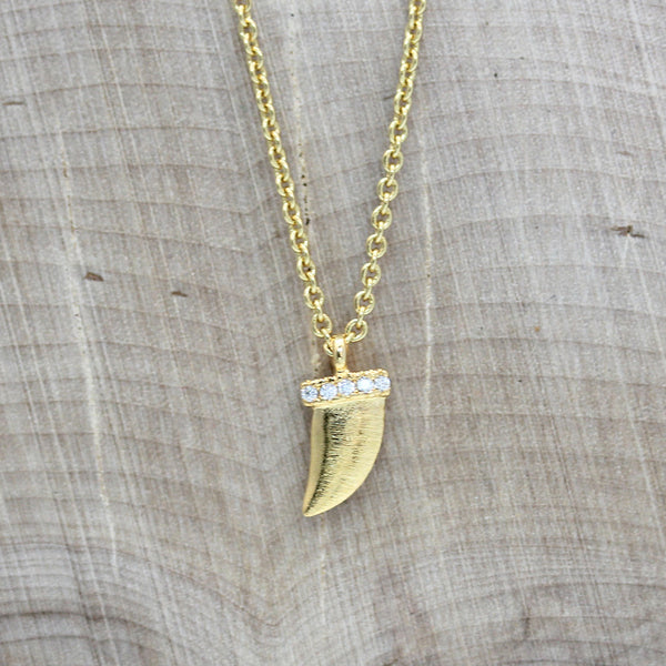 Mini Horn Charm Necklace