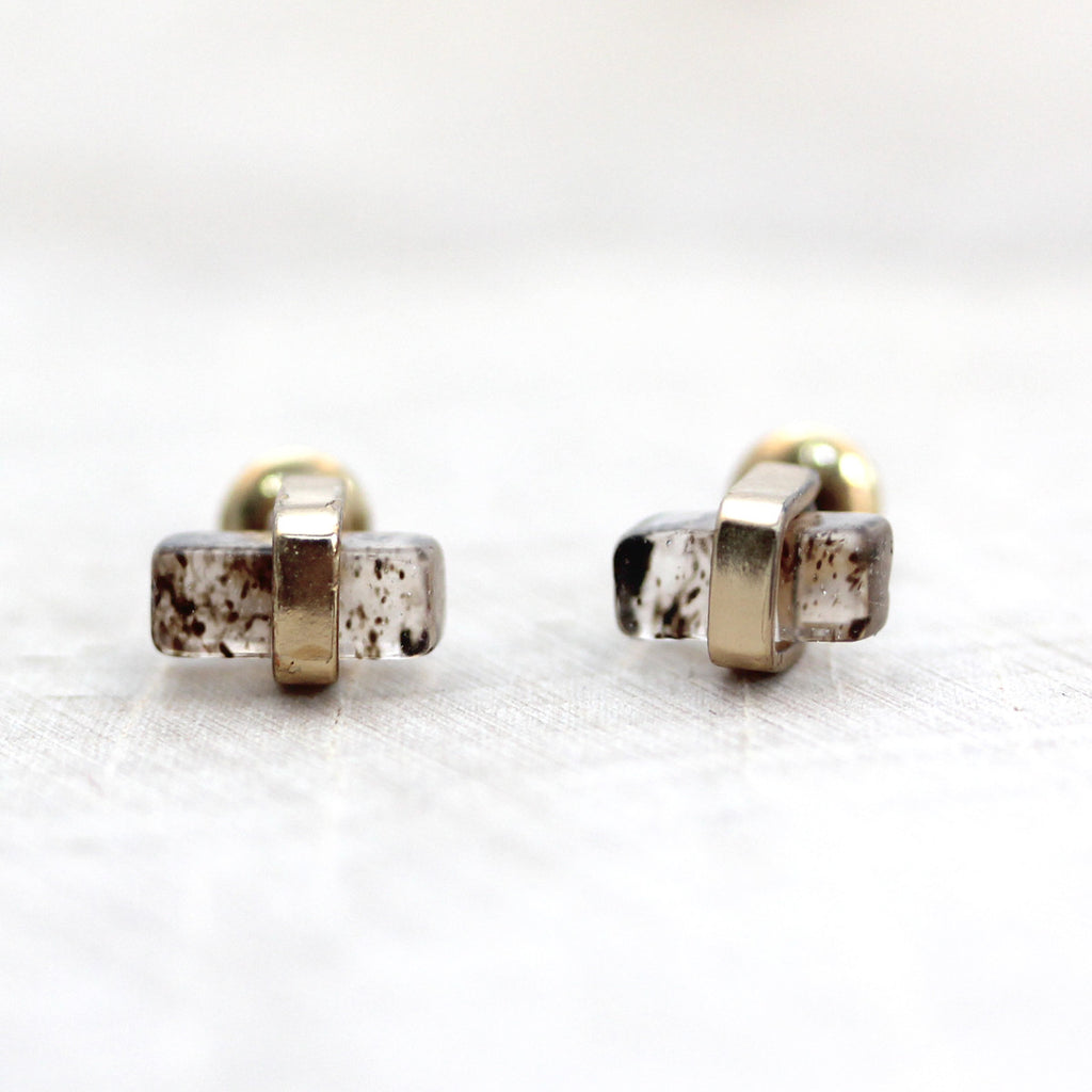 Mini Rectangle Stud Earrings