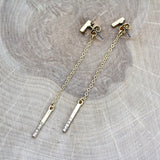 Bar and Pave Dangle Earrings