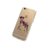 iPhone Geometric Boston Terrier Case