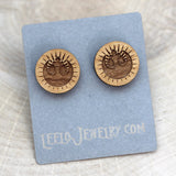 Wooden New Jedi Order Earrings