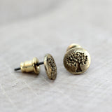 Mini Tree of Life Stud Earrings