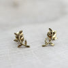 Olive Branch Stud Earrings