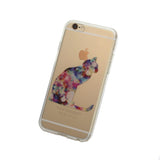 iPhone Geometric Cat Case