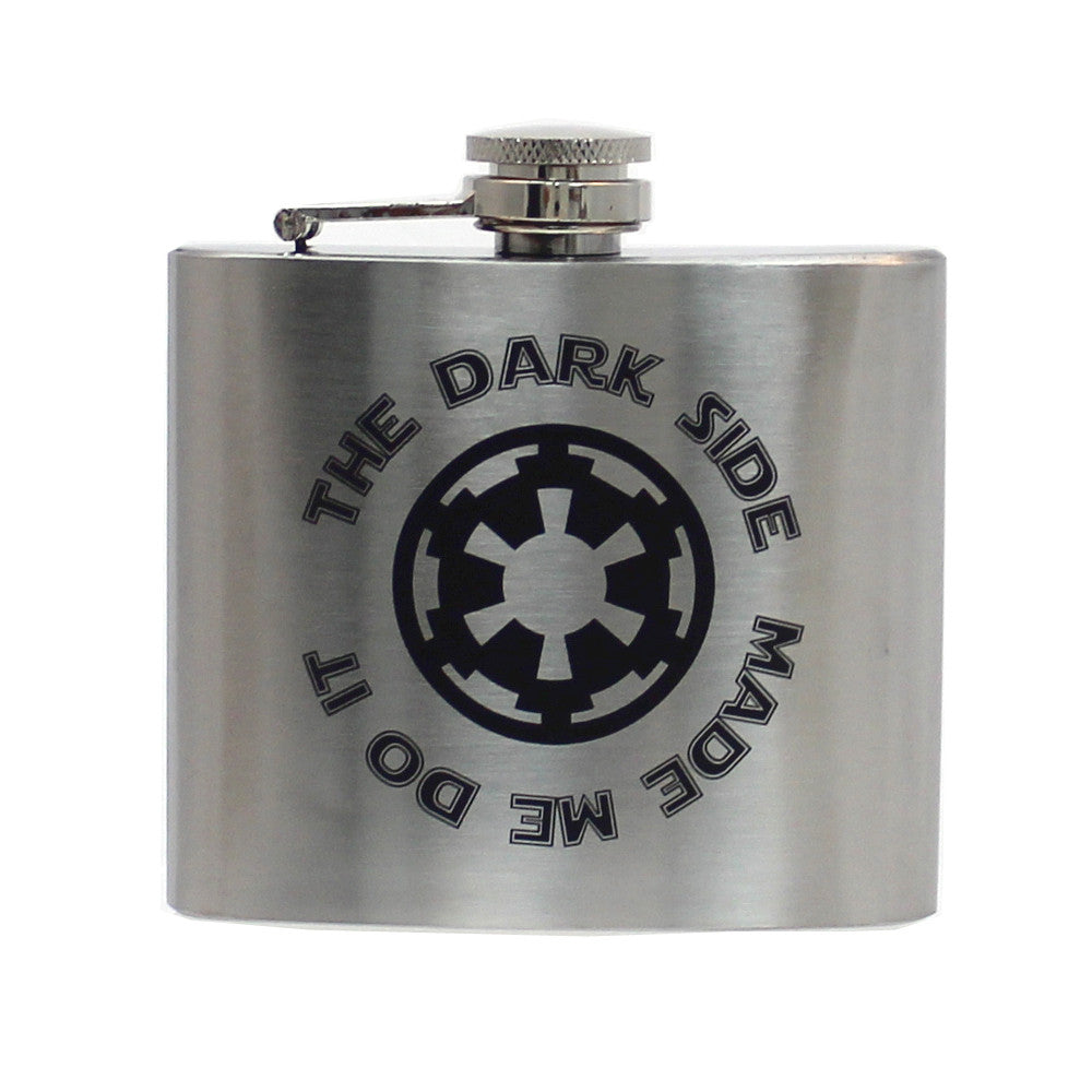 Steel 5oz Flask - Dark Side Made Me Do It
