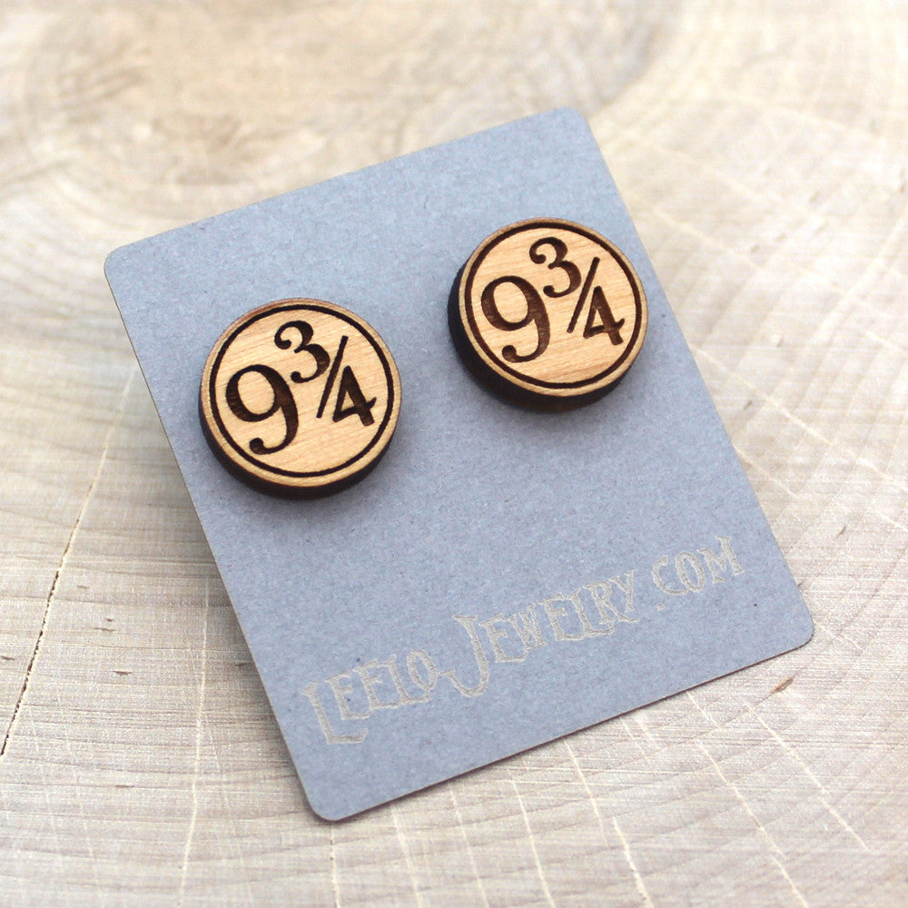 Wooden Platform 9 3/4 Earrings