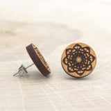 Wooden Mandala Earrings