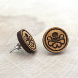 Wooden Hydra Earrings
