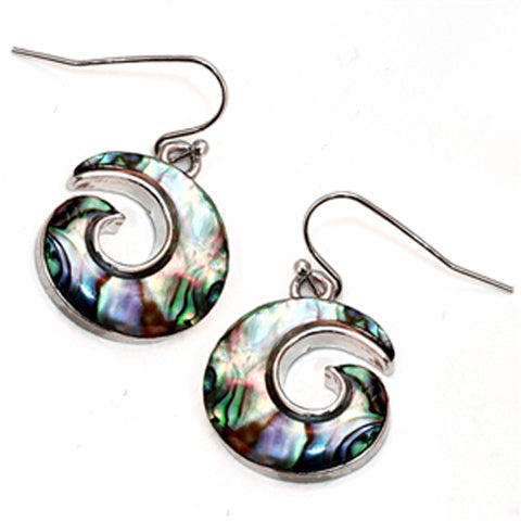 Abalone Swirl Earrings