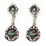 Vintage Style Abalone Dangle Earrings