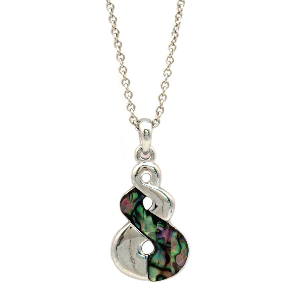 Triple Twist Abalone Shell Necklace
