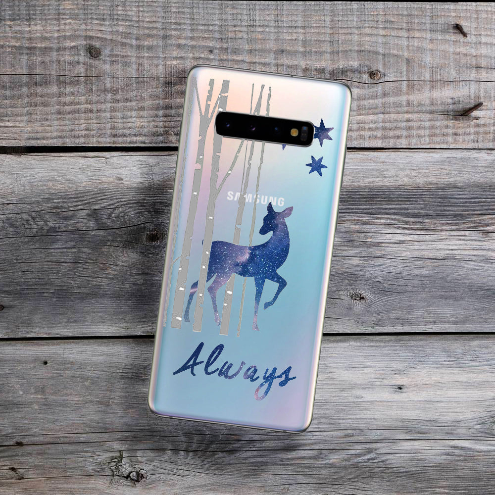 doe walking through forest samsung galaxy phone case