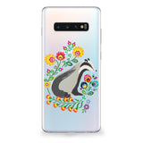 Badger Floral Art Samsung Galaxy Case