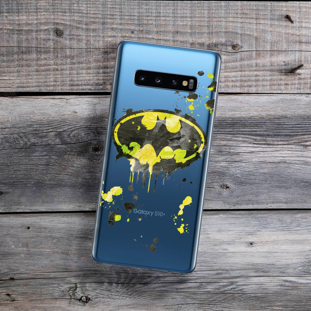 Splatter Paint Bat Symbol Samsung Galaxy Case
