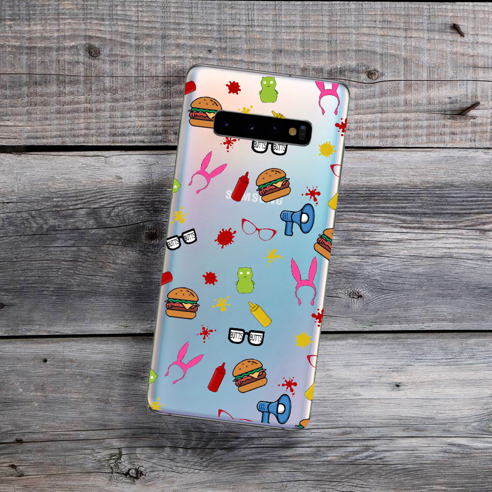 burger family wall paper samsung phone case