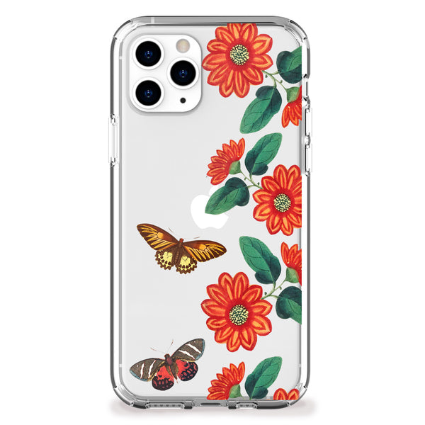 Vintage Butterflies and Daisies iPhone Case