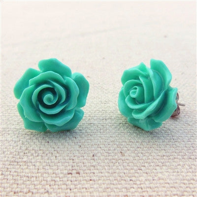 Coral Rose Stud Earrings (5 colors)
