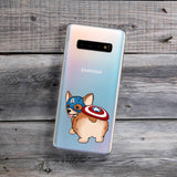 american hero corgi cute butt samsung galaxy phone case