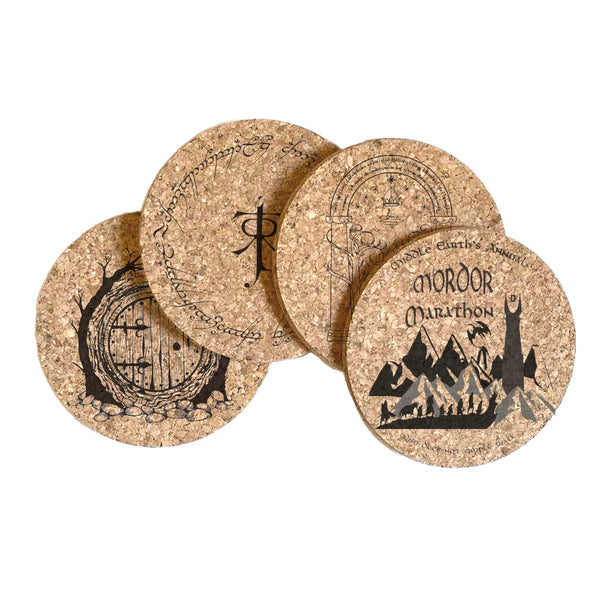 Lord of the Rings Cork Coaster Set of 4