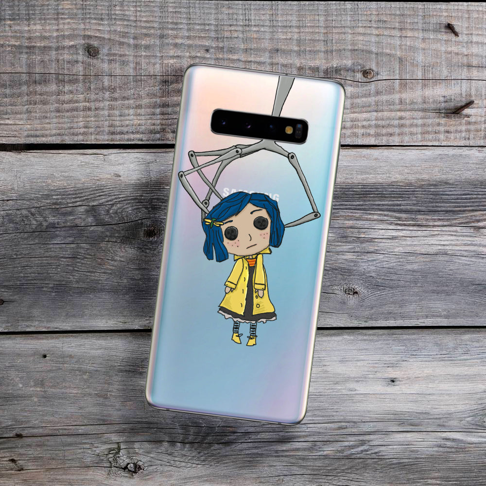 button eyes doll samsung phone case