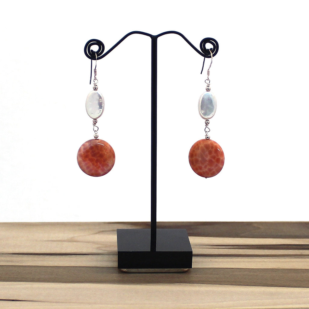 Polished Fire Dangle Earrings