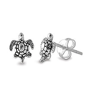 Silver Honu Mini Stud Earrings