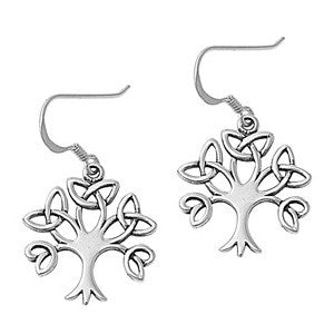 Sterling Silver Trinity Tree Earrings
