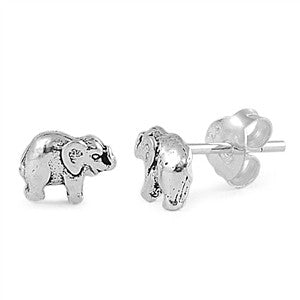 Sterling Silver Elephant Mini Stud Earrings