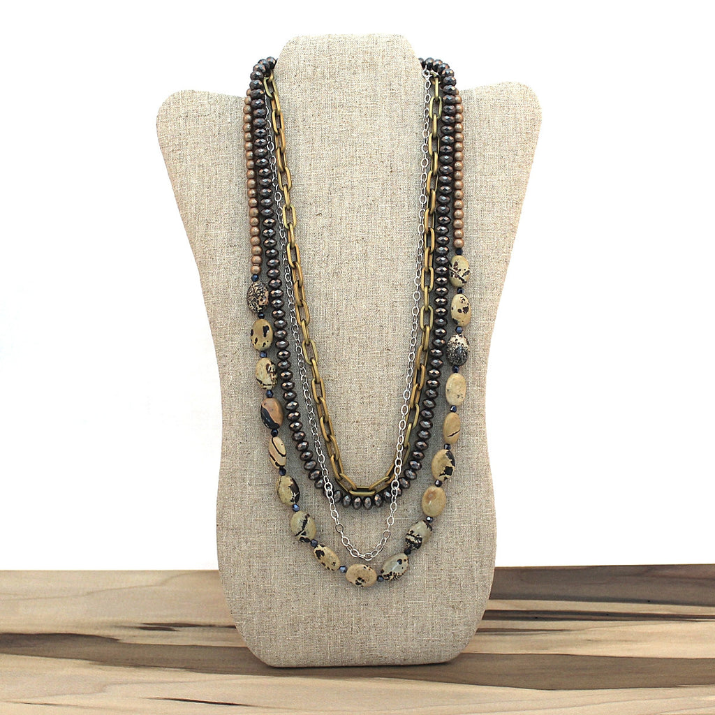 Layered necklace - Sand