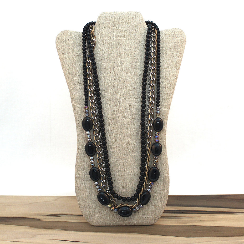 Layered necklace - Black