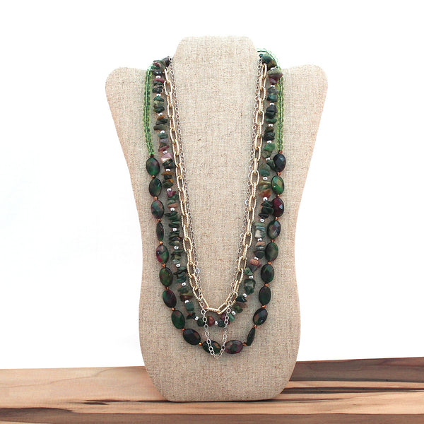 Layered necklace - Forest