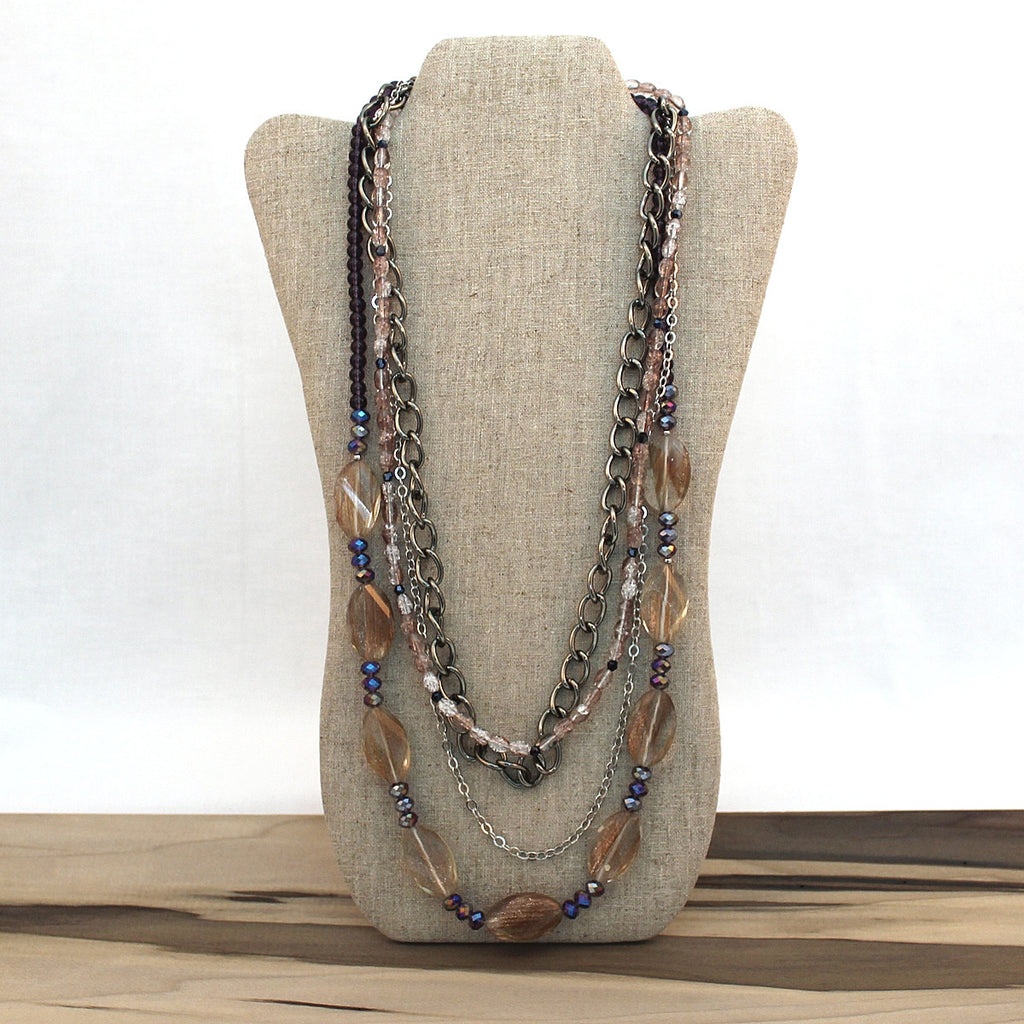 Layered necklace - Shimmer