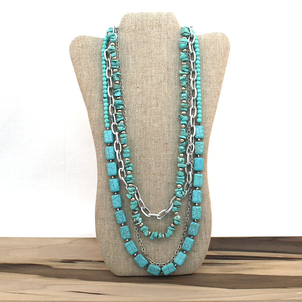 Layered necklace - Turquoise