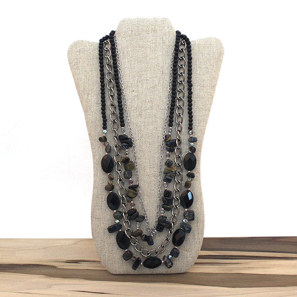 Layered necklace - Blue Tiger Eye