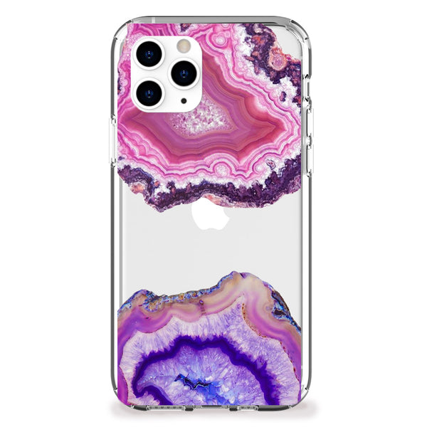 Pink and Purple Geode iPhone Case