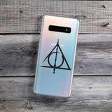master of death symbol wand cloak stone samsung phone case