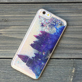Wizards Castle Twilight and Silver Glitter iPhone Case