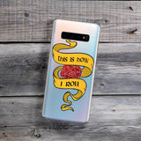 This is how i roll 20 sided dice samsung galaxy phone case red and yellow