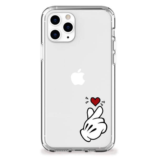 Finger Heart (Small) iPhone Case